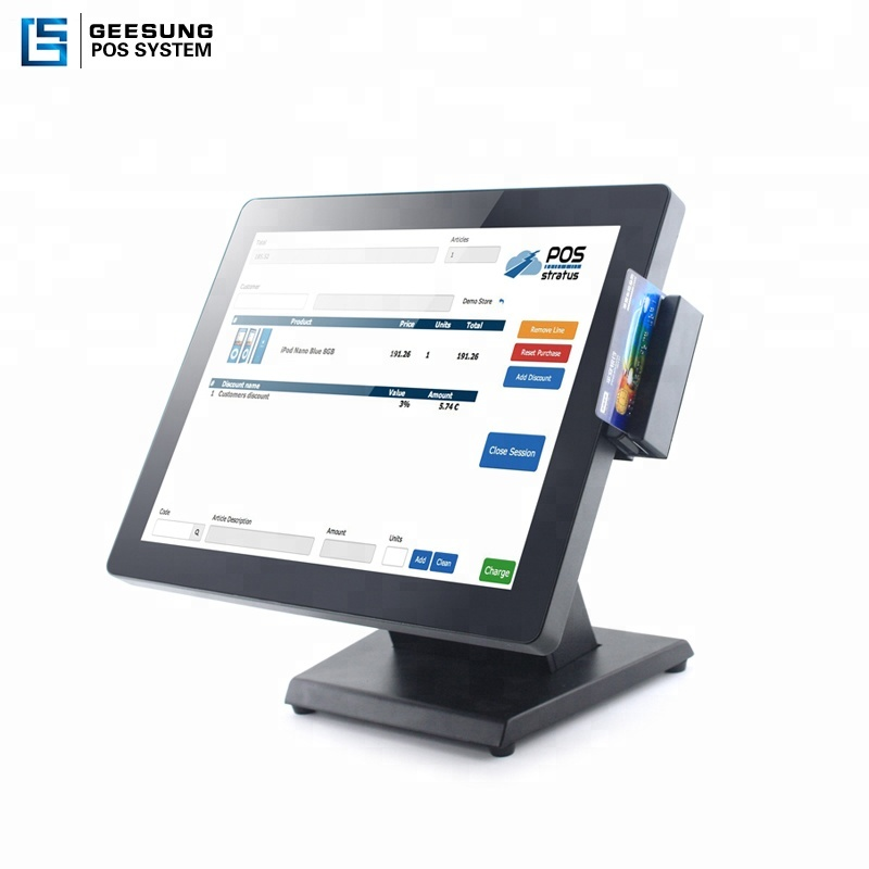 15 inch 17 inch waterproof  touch screen pos system retail pos system for sale