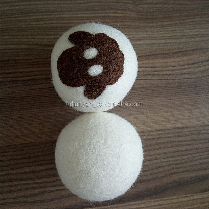 Eco laundry wool felt ball wool dryer balls by smart sheep 6-pack