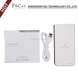 Fast charger 5000mAh 5w 1A mobile phone qi wireless charger power bank with indicator light
