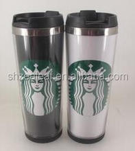 starbucks coffee tumbler with paper insert,12oz custom paper insert coffee tumbler,bpa free thermal coffee paper mug