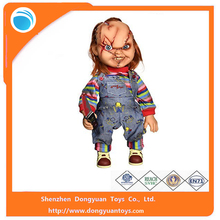2015 hot sell high quality custom made plastic chucky dolls