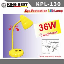 KING BEST 2016 Desk lamp ECO Eye Protection LED Lamps 360 rotating metal Arm Desktop light night reading lamp Desktop Offi