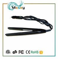 Rechargeable Portable LED Pro In Mini Car Hair Straighteners / Dual Voltage Flat Iron