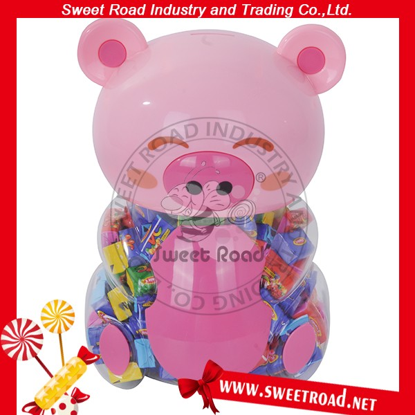 Pig Shaped Candy Tattoo Bubble Gum