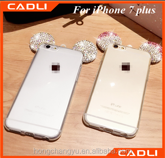 new luxury glitter bling diamond mouse ears phone case for iphone 7 plus