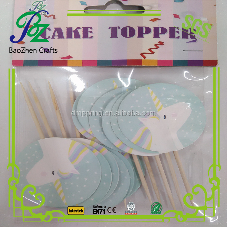 Birthday Party Cake Decoration One Paper cake Toppers