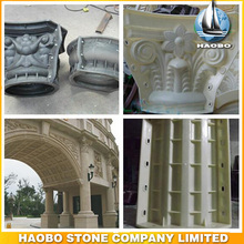 Round Plastic Decorative Column Cement Mold For Construction for cement sculpture