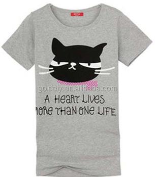 Wholesale Good Quality Custom Cat Print T Shirt - Alibaba.com