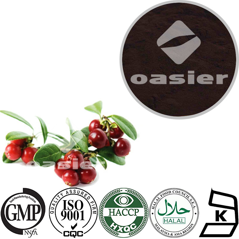 factory supply 35% OPC/10% Anthocyanin/10% Resveratrol 4:1 Lingonberry Extract