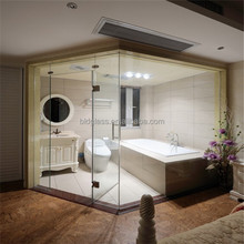 Shower room balcony tempered glass wall panel price safety building glass