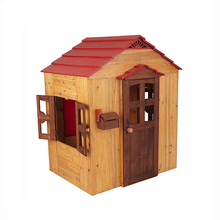 Hot Koop Houten Playhouse Mode Houten Outdoor Playhouse Moderne Kids Cubby Huis