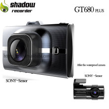 Best waterproof dual sony 322 sensor lens autos dash cam 1080 HD car camera