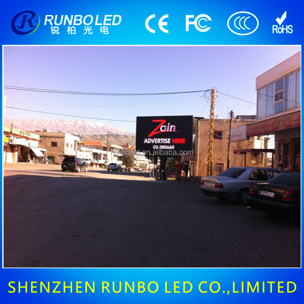P10 full color led programmable sign display board
