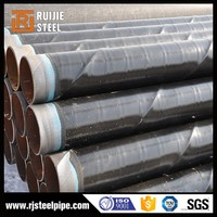 2pe plastic coated and cement mortar lined weld steel pipe/anticorrosion steel pipe