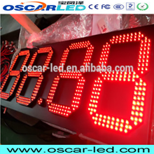 oscarled 2017 led time temperature sign/ 12 inch outdoor led gas pricing signs/ 18 inch score board led display