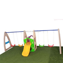 Hot sale kids climb up backyard slides set swing slide