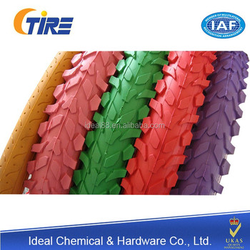 High quality bicycle tyre with low prices (color and black are all avaliable)