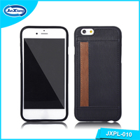 Cheap Popular Stylish Leather Mobile Phone case with Card Slot for iPhone 6