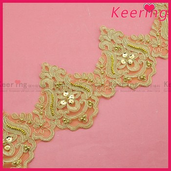 Gold color new fashion bead handmade trimming