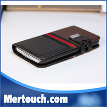 Contrast Color Wallet Leather for samsung galaxy note 3 purse leather case