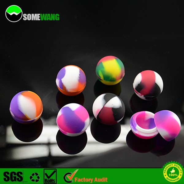 Silicone bho container,Ball shape silicone container for butane hash oil 3ml