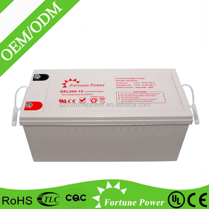 Spot goods sealed 12v 200ah solar long way rechargeable battery