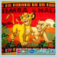2013 new design lion printed fleece blanket