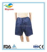 Nonwoven disposable underwear for men with even foot