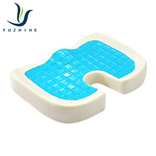 New designed cool comfortable memory foam gel seat cushion for sale gel seat cushion with washable cover