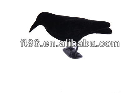 PE or XPE blow molding polyresin motorized target plastic crow toy