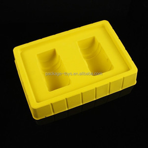 Luxury flocking Tray Flocked Blister Package for cosmetic