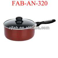 Hot aluminum milk pot with double bottom