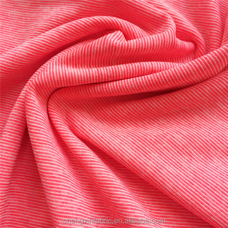 striped polyester spandex jersey knit fabric