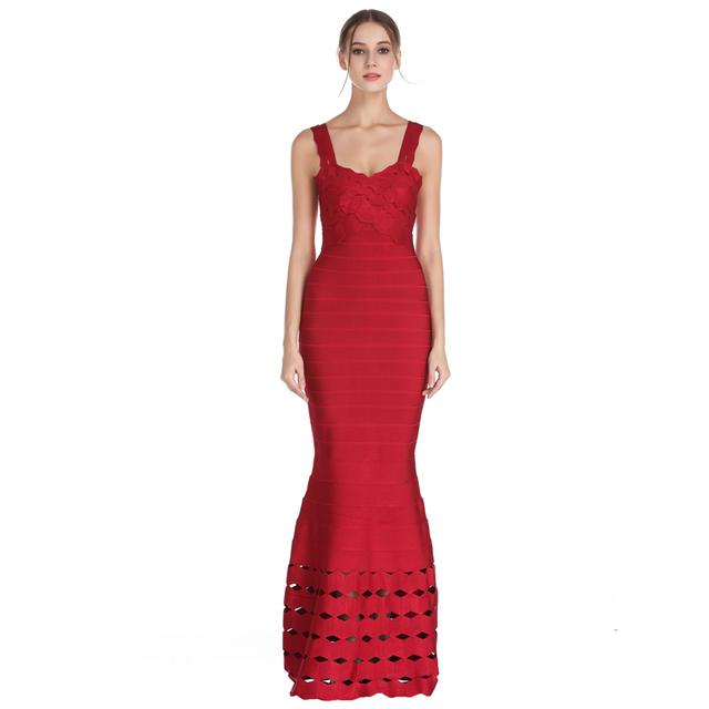 Irisfox L1543 Elegant Women Evening Bodycon Bordeaux 2018 Bandage Dress