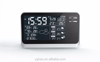 digital 433mhz with time weather station forecaster ltronic weather station clock