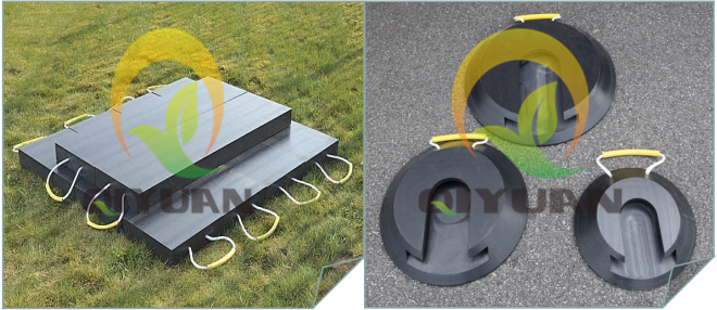 Plastic Hdpe Crane Outrigger Trailer Plate Jack Pads
