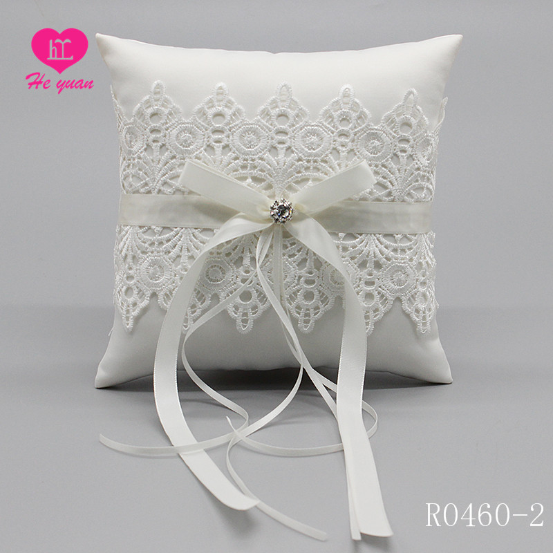 R0460-2 Wholesale Lace Wedding Decoration Products Ring Bearer Pillow