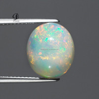 High quality oval shape white synthetic opal cabochon