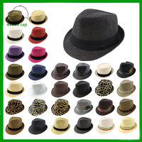 cheap promotional hot summer panama style trilby straw fedora hat