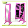 Princess room pink color mirror jewelry armoire gift for daughter