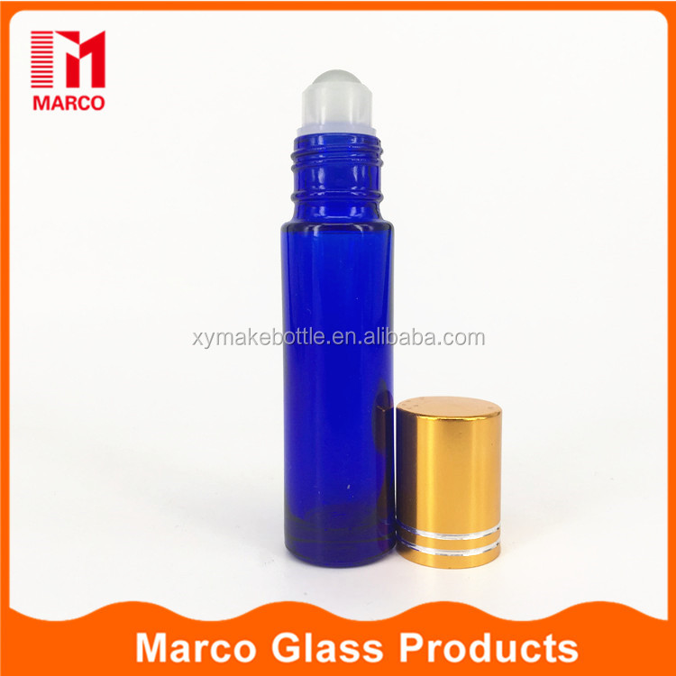 Roll on attar oil bottle cobalt blue glass bottles