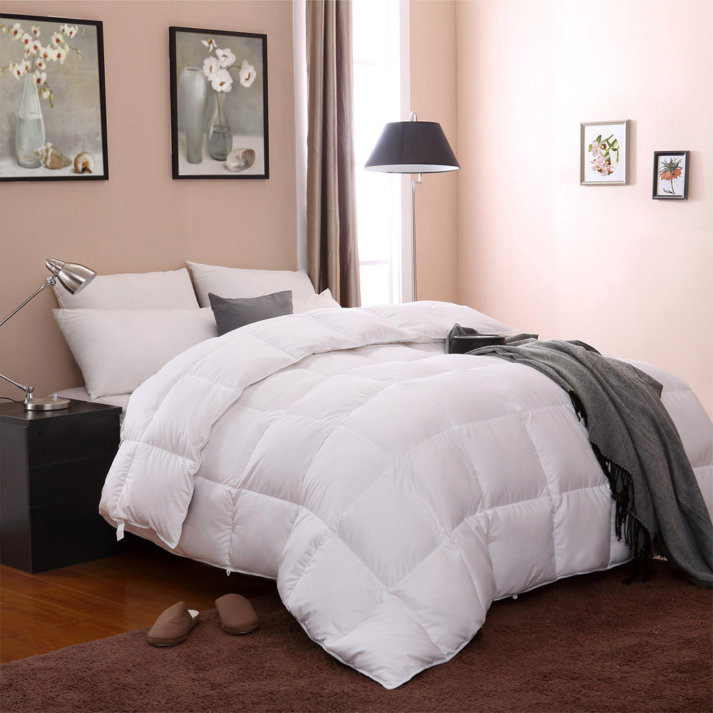 Cheap Super Soft White Comforter Goose Feather Single Size Duvet