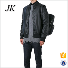 <strong>mens</strong> basic style street wear contrast colors leather pu casual bomber jacket