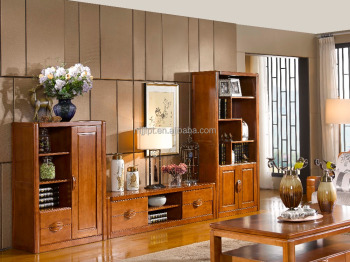 Hot sale modern solid wooden home living room furniture TV stand cabinet 8223