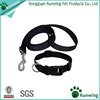 multiple color durable plain nylon dog collar and leash