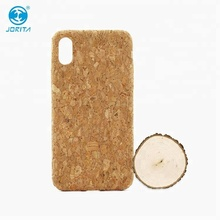 For iPhone X Case, Eco Recycled Natural Cork Wood Phone Case Protective Shockproof Mobile Phone Accessory Back Cover for iPhone