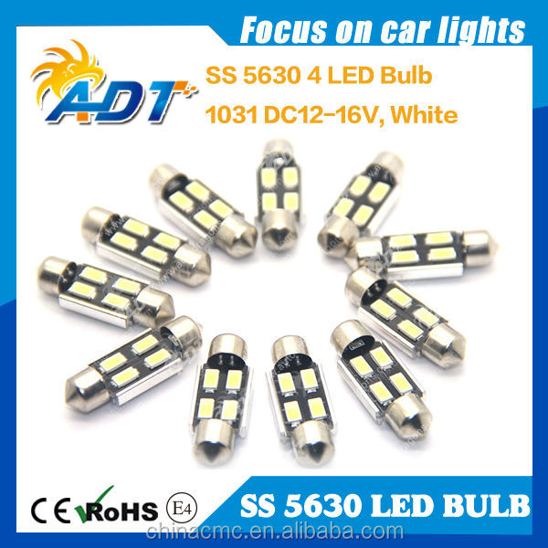 Auto parts number Plate Festoon 1.42inch 1036 5630 SMD white LED Light Bulbs car accessories