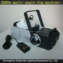 Multi angle fog machine 2000w dmx smoking machine DJ Equipment Stage Effect mist maker haze