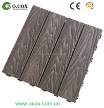 Easy Installation interlock outdoor floor DIY WPC composite Decking Tiles