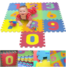Wholesale cheap Ningbo 10pcs Baby or kids eva foam Number Interlocking jigsaw puzzle exercise floor play gym mat